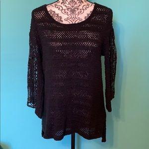 Anthropologie Sparrow Knit Flow Sweater Blouse L